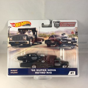 Hot Wheels Car Culture '66 Super Nova Retro Rig Team Transport