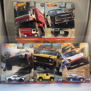 Hot Wheels Car Culture Wild Terrain Complete Set