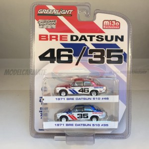Greenlight BRE Datsun 46/35 Chrome Edition - Mijo Exclusives 2 Pack