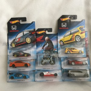 Hot Wheels Honda 70th Anniversary Set Compleet