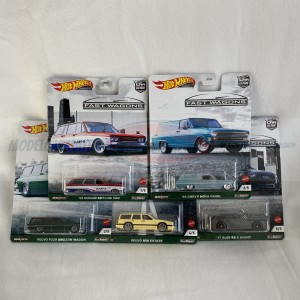 Hot Wheels Car Culture Fast Wagons Complete Set