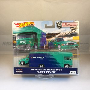 Hot Wheels Team Transport Mercedes-Benz 190E & Fleet Flyer