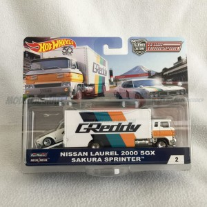 Hot Wheels Car Culture Nissan Laurel 2000 SGX & Sakura Sprinter Team Transport
